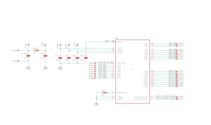 Beispiel eines Schaltplans für ein PCB