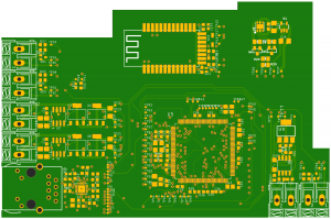 The PCB of the LAN card: The electronics were generated fully automatically from the functional model
