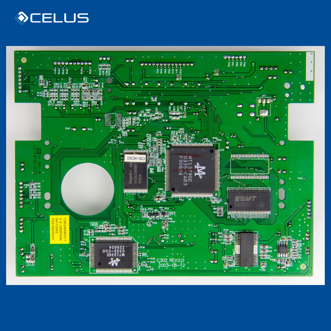Example of a DVD-player PCB (Printed Circuit Board)